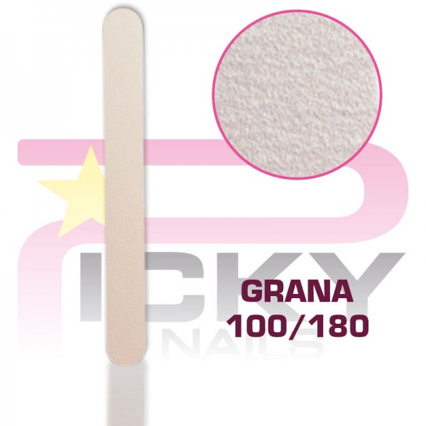 Straight Files Grit 100/180 - 3 pcs