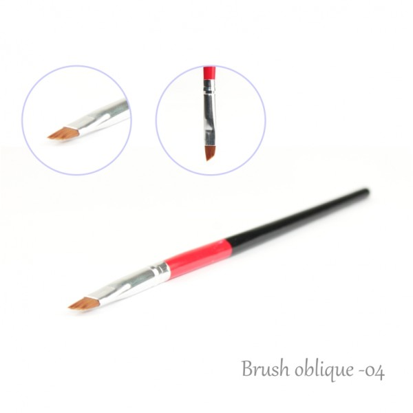 One Stroke Nail Brush Oblique Edge 4