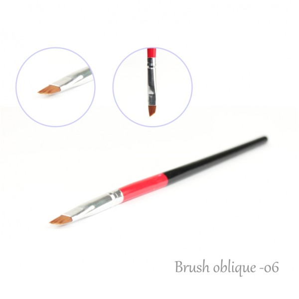 One Stroke Nail Brush Oblique Edge 6