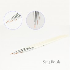 Perfect striper set 3pcs  Brushes micro-painting  nail art