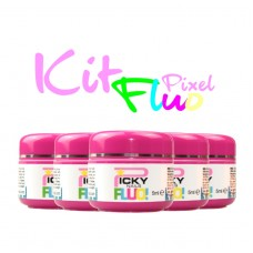 Kit 6 Gel Fluo PIXEL
