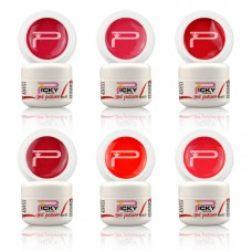 6 Uv Gel Red Passion Set