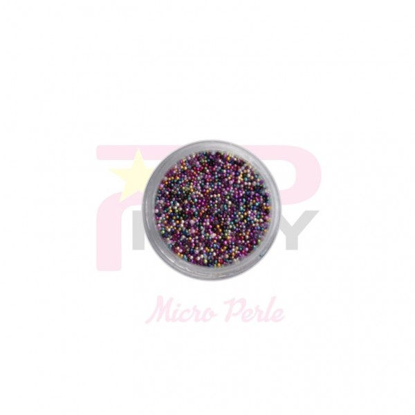 Rainbow micro pearls caviar effect for nail art decorations
