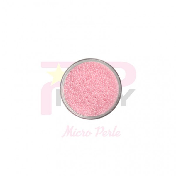 Ligth pink micro pearls caviar effect for nail art decorations