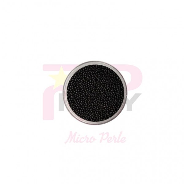 Black micro pearls caviar effect for nail art decorations