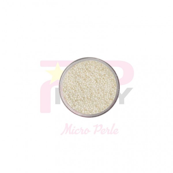 White  micro pearls caviar effect for nail art decorations