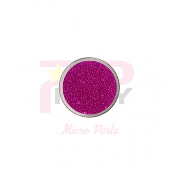 fuchsia micro pearls caviar effect for nail art decorations