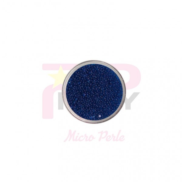 Sky blue micro pearls caviar effect for nail art decorations