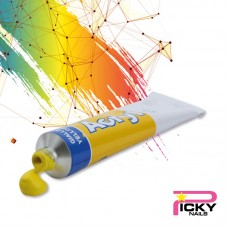 Acrylic color one stroke painting 3D - Yellow