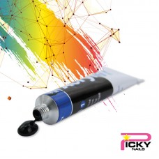 Acrylic color one stroke painting 3D - Black