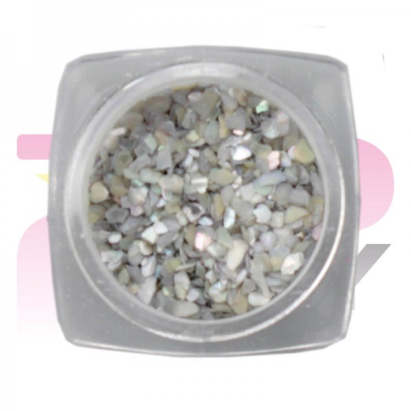 Nacre Jar Silver Nail Art Decorations