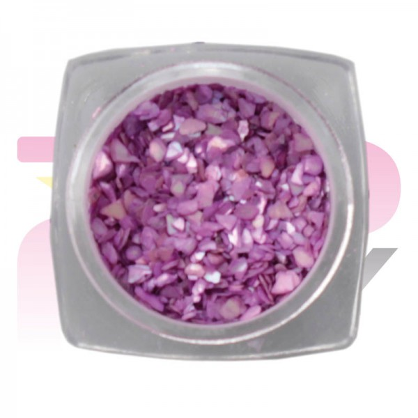 Nacre Jar Violet Nail Art Decorations